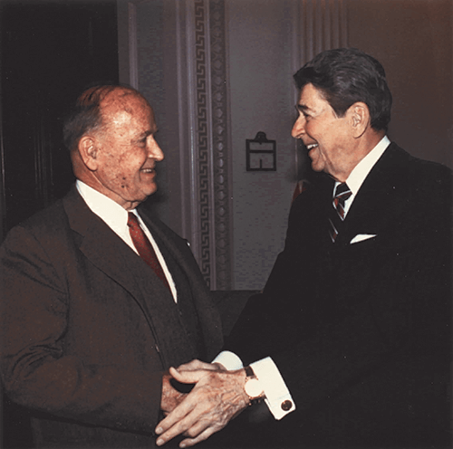 J. Peter Grace and Ronald Reagan